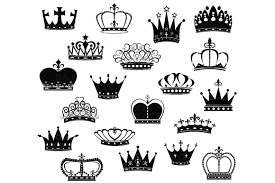 crown silhouette clipart illustrations creative market