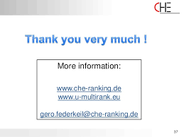 che ranking new trends in rankings 2011