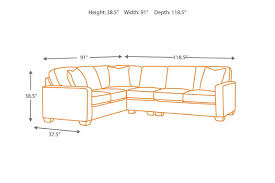 Sectional Sofa Dimensions by Alenya 3 Piece Sectional Ashley Furniture Homestore