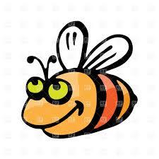 funny smiling cartoon bee vector image 16274 u2013 rfclipart