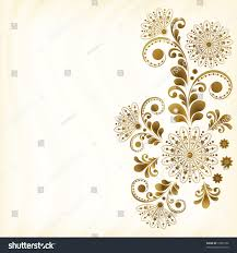 Decorative Flowers by Vector Abstract Vintage Floral Background Decorative Stock Vector