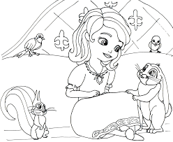 sofia coloring pages girls print free princess