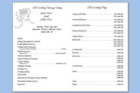 printed wedding programs free downloadable wedding program template that can be printed
