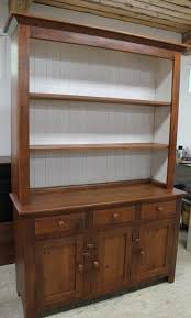 hand made nantucket style white china cabinet hutch from old barn