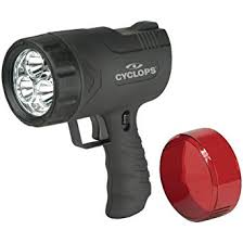 hand held spot light amazon amazon com cyclops sirius 300 lumen handheld spotlight w 6 led