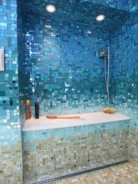 40 blue glass mosaic bathroom tiles tile ideas and pictures glass