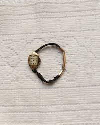 bulova watches ladies bracelet images Ladies antique bulova watch 10 k gold watch with black cord jpg
