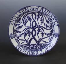 wedding plate wedding plates kemp pottery
