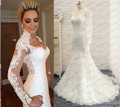 wedding dresses vintage 2016 berta mermaid wedding dresses vintage real photos high neck