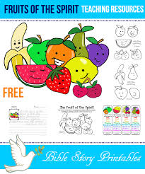 fruit of the spirit printables teaching resources coloring pages