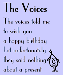the voices a funny birthday poem free fun ecards greeting