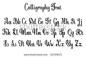 calligraphy font vector alphabet calligraphic font unique custom stock vector
