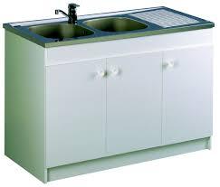 evier cuisine 120x60 meuble de cuisine sous évier leader aquarine