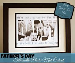father u0027s day photo mat cutout free silhouette studio cut file