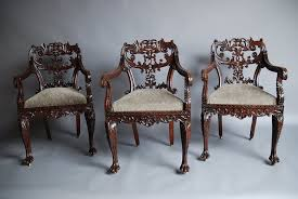 Indian Dining Chairs Set Of Six Anglo Indian Chairs Antiques Atlas
