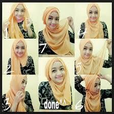 tutorial hijab segi empat paris simple contoh model fashion hijab terbaru tutorial style hijab