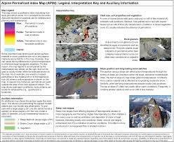 Alps On A Map Alpine Permafrost Index Map Apim