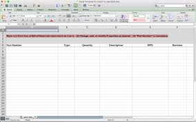 Bill Of Materials Excel Template Import Bom From Excel Template And Openbom Data Management