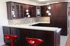 kitchen cabinets backsplash ideas beech espresso cabinet also small u shaped kitchen and side bar