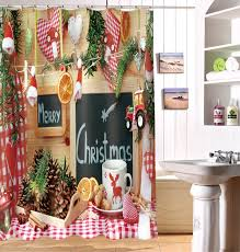 beautiful christmas shower curtains image of extra long shower