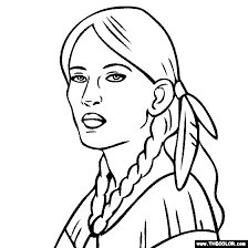 Sacagawea Coloring Page sacagawea coloring page indian color american
