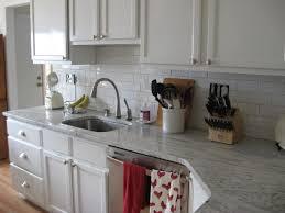 New River Cabinets White River Granite White Subway Tile White Cabinets Kitchen