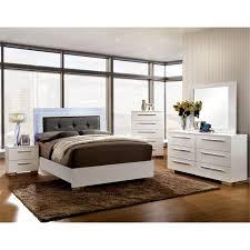 furniture of america rayland 4 piece king led panel bedroom set