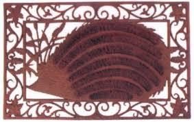 zerbino di cocco zerbini o pulisciscarpe decoro riccio con strisce di cocco lh65
