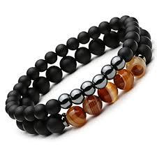 black prayer bracelet images Sevenstone 2pcs black matte onyx prayer beads bracelet jpg