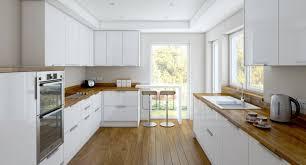 cuisine bois et blanche cuisine blanc laqu et bois galerie avec blanche laque newsindo co