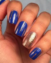 blue and gold nails kinda cool nails pinterest gold nail