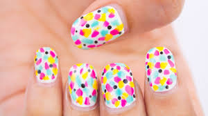 easy colorful summer nail art no tools chippernails youtube