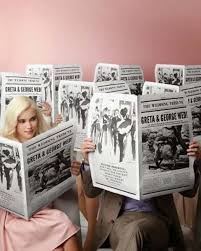 newspaper wedding programs the opposite of easy newspaper wedding programs