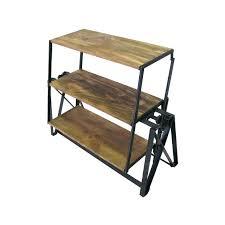 table converts to shelf convertible shelf table shelf turns into table genius a shelf that