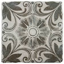 floor and tile decor merola tile costa cendra decor dahlia 7 3 4 in x 7 3 4 in