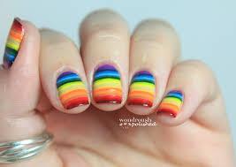 wondrously polished 31 day nail art challenge day 9 rainbow nails