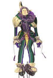 mardi gras doll x 19in wide jumbo mardi gras jester doll