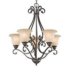 kichler dining room lighting shop kichler camerena 27 in 5 light olde bronze mediterranean