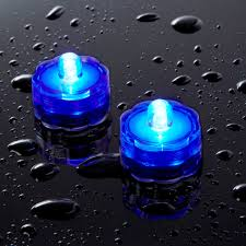 lighting set of two battery operated blue led lights for