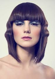 ripple hairstyle shoulder length bob with ripple to add breadth to a longish face