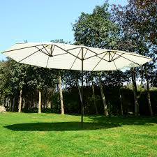 Patio Umbrellas Ebay by 15 U0027 Patio Umbrella Double Sized Aluminum Sun Shade Cover Market