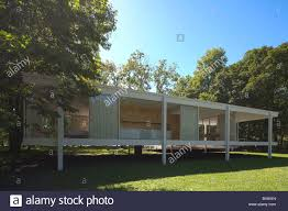 farnsworth house by ludwig mies van der rohe plano illinois usa