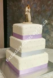 3 Tier Wedding Cake Classic 3 Tier Square Wedding Cake Exclusive Cakes By Tessa Yelp