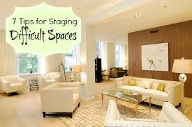 living room staging ideas 7 staging tips for tough spaces home staging expert in nyc