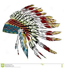 happy thanksgiving native american native american indian headdress with feathers in a sketch style