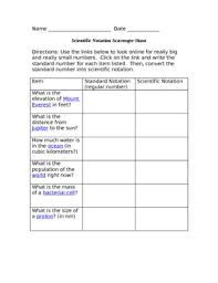 scientific notation scavenger hunt by technology timeout tpt