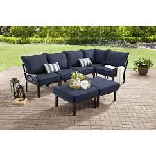Converting Outdoor Sofa Mainstays Sandhill 7 Piece Outdoor Sofa Sectional Set Seats 5