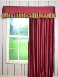 swan geometric two layered wave and box pleat valance and curtains