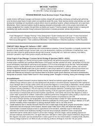 Analyst Resume Example Sample Resume Of Business Analyst Resume Samples And Resume Help