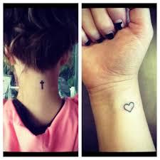 amazing small girly cross tattoos design idea